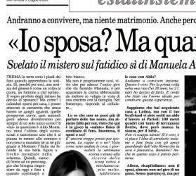 """Manuela Arcuri: """"Wife me? Never…"""""""