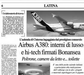 AirBus 380: lux and hi-tech from Bonansea