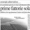 The first solar energy farms