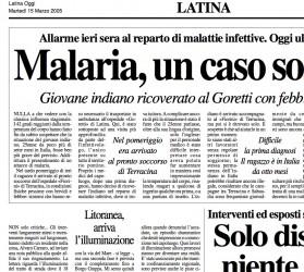 Suspected case of Malaria