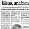 Elena Santarelli, a blonde girl for a Reality