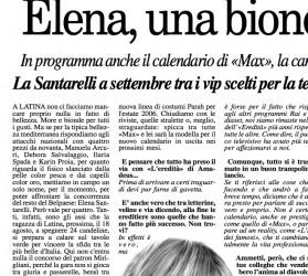 Elena Santarelli, a blonde girl for a Reality